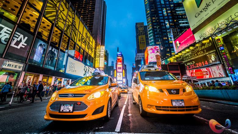 Times Square - Typische scene in New York City