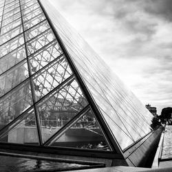 Louvre in clouds