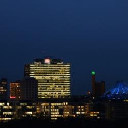 Sony Center vanaf de Reichstag Berlijn