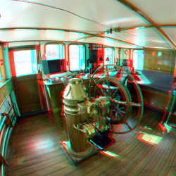 Stuurhut CASTOR Rijnhaven Rotterdam 3D fish-eye 8mm