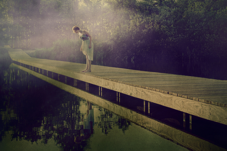 at the lake -