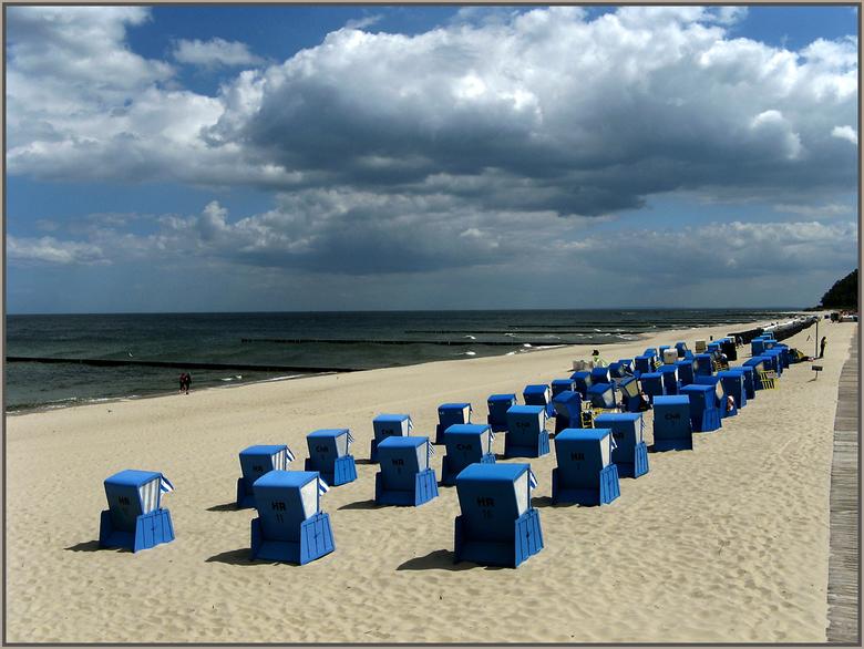 Aan de Pommmersche Bucht - Dit is aan de Baltische zee bij de Pommersche Bucht - helemaal noord-oost Duitsland voordat je Polen in rijdt. Het eiland U
