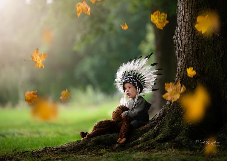 Mijn kleine indiaantje  - Dit is mijn zoontje Dean.<br /> Ik hou ervan om met mijn zoontje nieuwe ideeën uit te proberen.