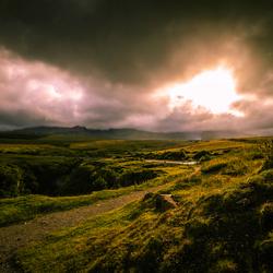 zonsondergang op isle of skye schotland