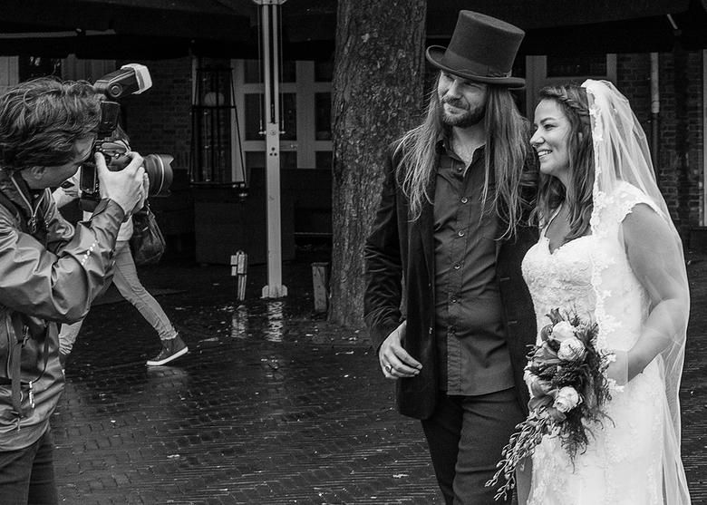 de trouwfoto -