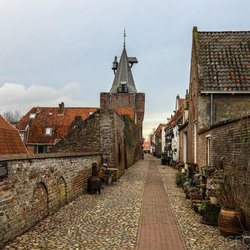 Pittoresk straatje in Elburg