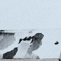 tekening op dak na de sneeuwval