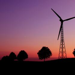 Windmill Sunset