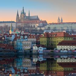 zonsopgang in Praag