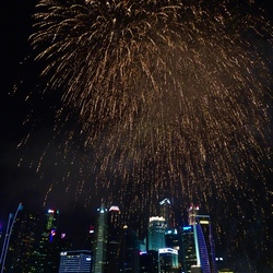 Vuurwerk onafhankelijkheidsdag Singapore