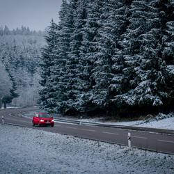 Rit door de sneeuw