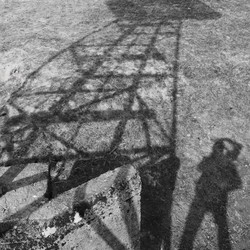 The windmill and my shadow