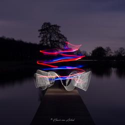 Lightpainting Lichtsabel