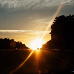 Tijdens de vakantie auto rit in Frankrijk