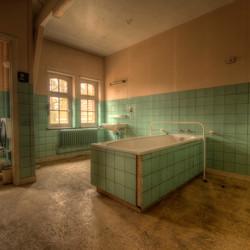 Mintgroene badkamer
