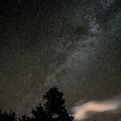 Voorbeeld Melkweg met wolken