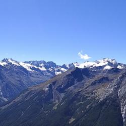 Uitzicht op de echte bergen