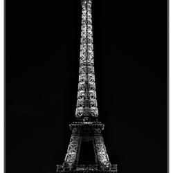 Eiffel Tower, blackandwhite