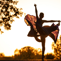 Sunset ballerina