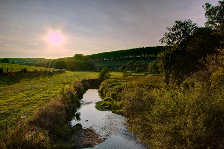 Ardennen - Strainchamps bij ondergaande zon