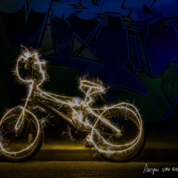 Light painting bmx