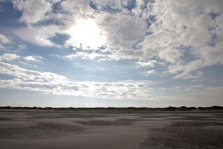 Ameland, verlaten strand -