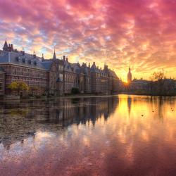 Zonsondergang op het Binnenhof