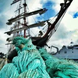 Blue rope at SAIL