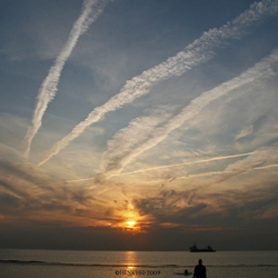Zonsondergang Maasvlakte 2