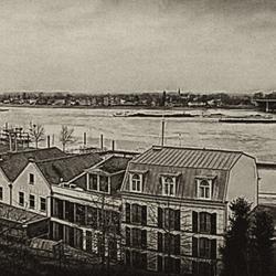 Panorama over de Waal