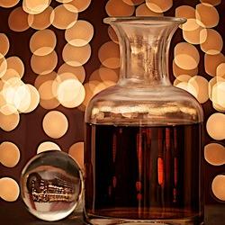 Kerstfeest met een glas cognac