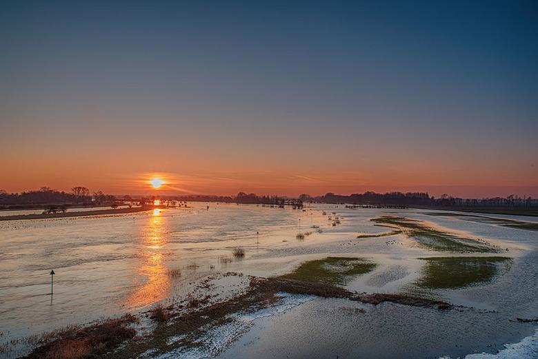 Sunset aan de IJssel
