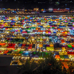Amazing view over a bangkok Nightmarket