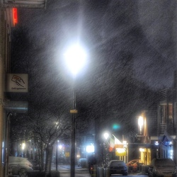 Winters avondje