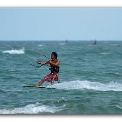 Thaise kite surfer