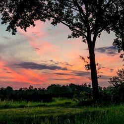 Stille zonsondergang