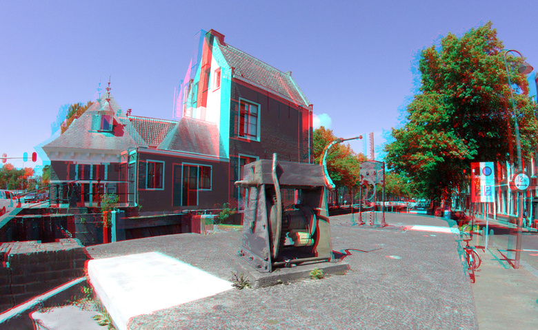 Het Tolhuis Sluis Gouda 3D GoPro - Het Tolhuis Sluis Gouda 3D GoPro<br /> 72mm basis<br /> anaglyph stereo red/cyan