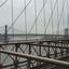 De Manhattenbridge vanaf de Brooklynbridge