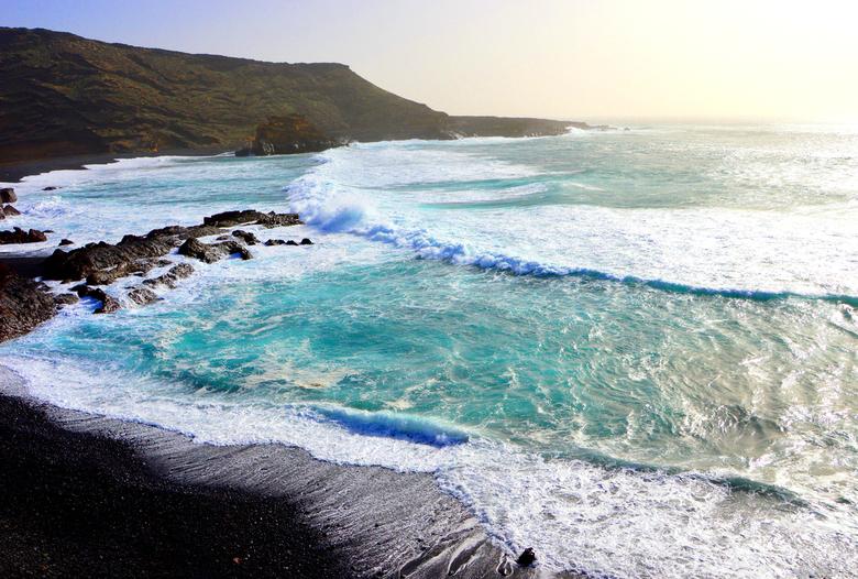 Vulcano beach - Vulkaanstrand. Lanzarote, Canarische Eilanden