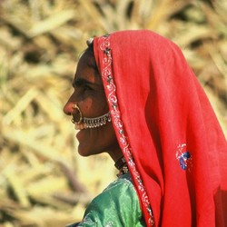 Vrouw in Rajahstan, India