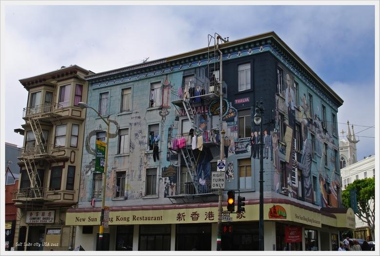 San Francisco  China town - reis door de USA 2012