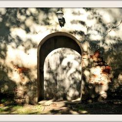 Oude kerkdeur