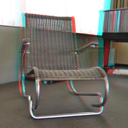 Gispen chair Sonneveld House Rotterdam 3D