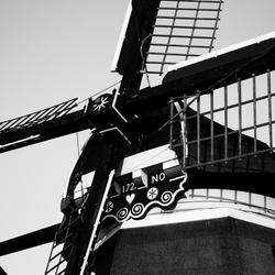 Close-up van een molen
