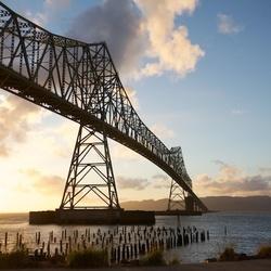 Bridge van Oregon naar Washington