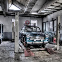 Nostalgische garage