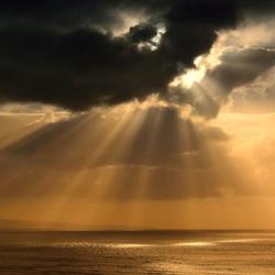Lucht,zon,zee en bergen.