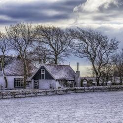 Sneeuwlandschap op Texel