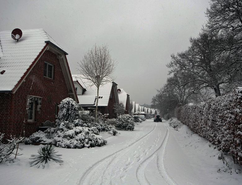 Winter in Burlo - Er viel een flink pak sneeuw in Burlo (D) eind januari 2015