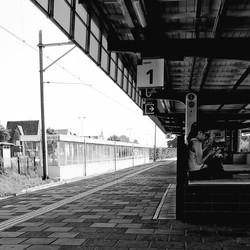 Toeristen op het station